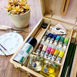 קיט ציור פרימיום בצבעי שמן