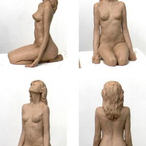 תרגיל פיסול גוף של אישה